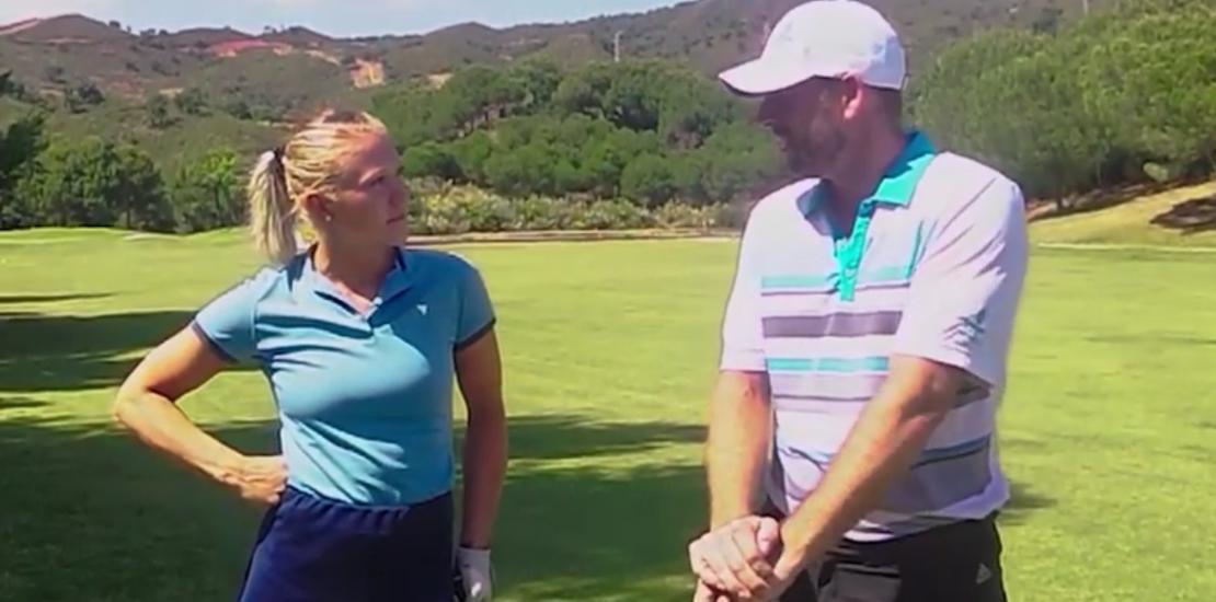 Golf Tips with the PRO and with Elina Hagberg at Santa Maria Golf